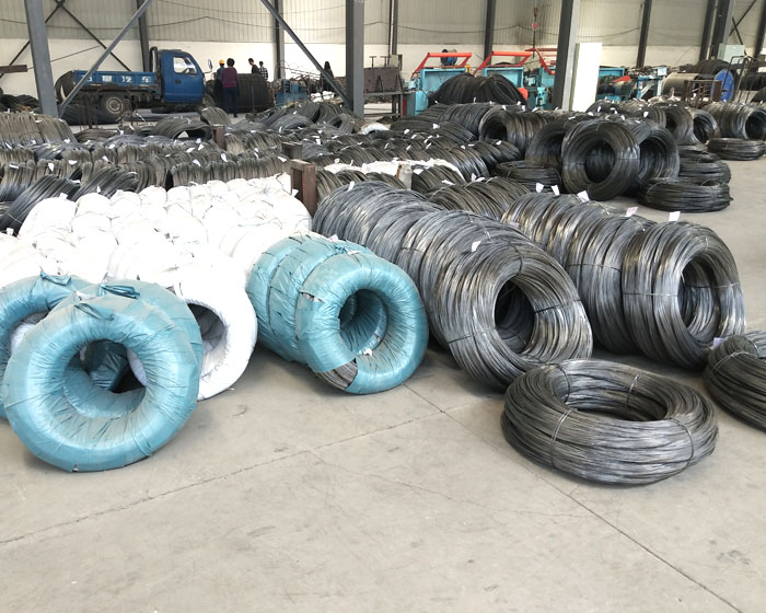 Raw pull spring steel wire